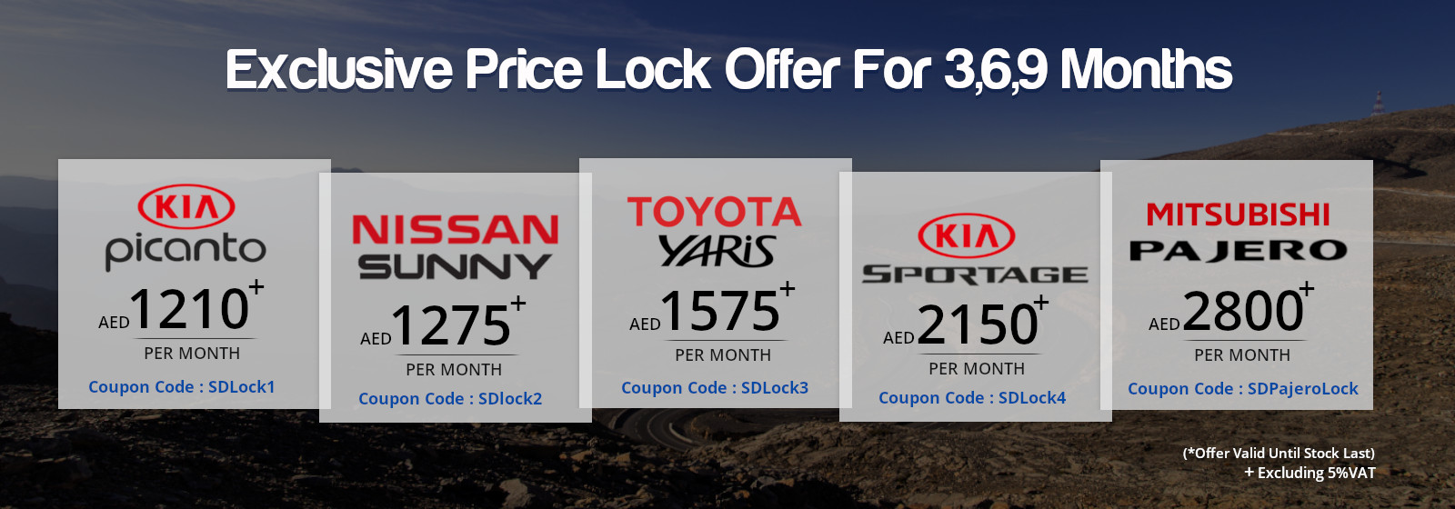Exclusive Price lock Offer for 3/6/9 Months