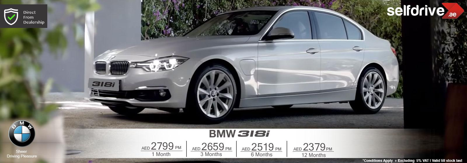 Rent a car BMW318i Dubai