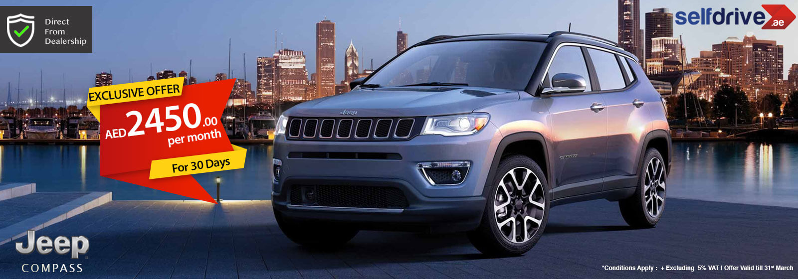Drive the all new Jeep Compass