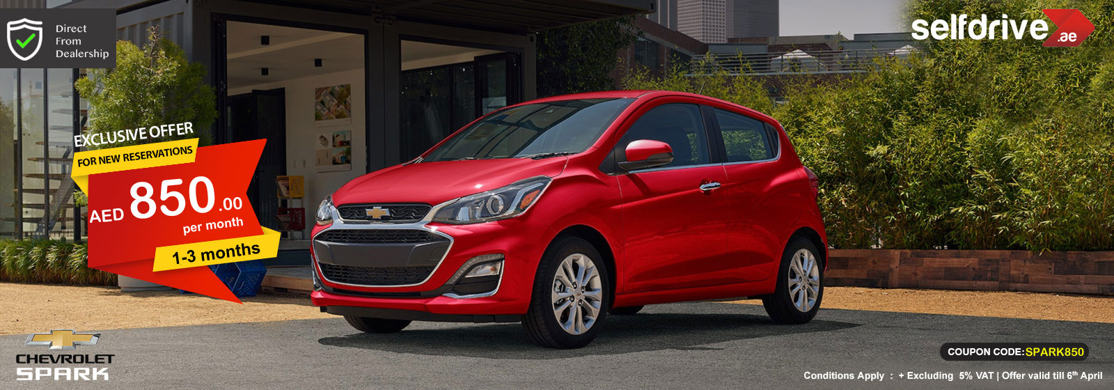 Rent Chevrolet Spark exclusive offer