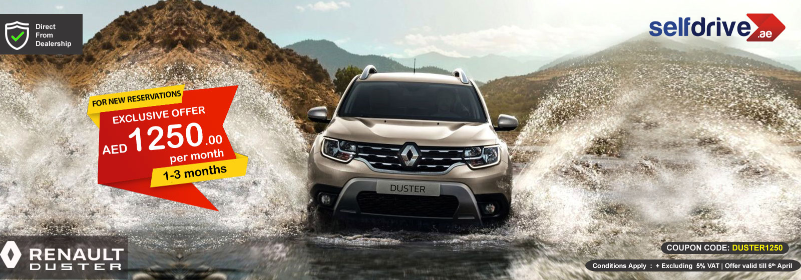 Rent Renault Duster exclusive offer for 1-3 months
