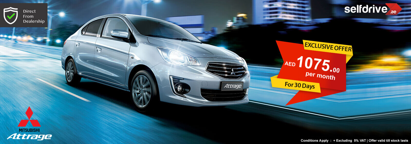 Rent a Car Dubai Mitsubishi Attrage