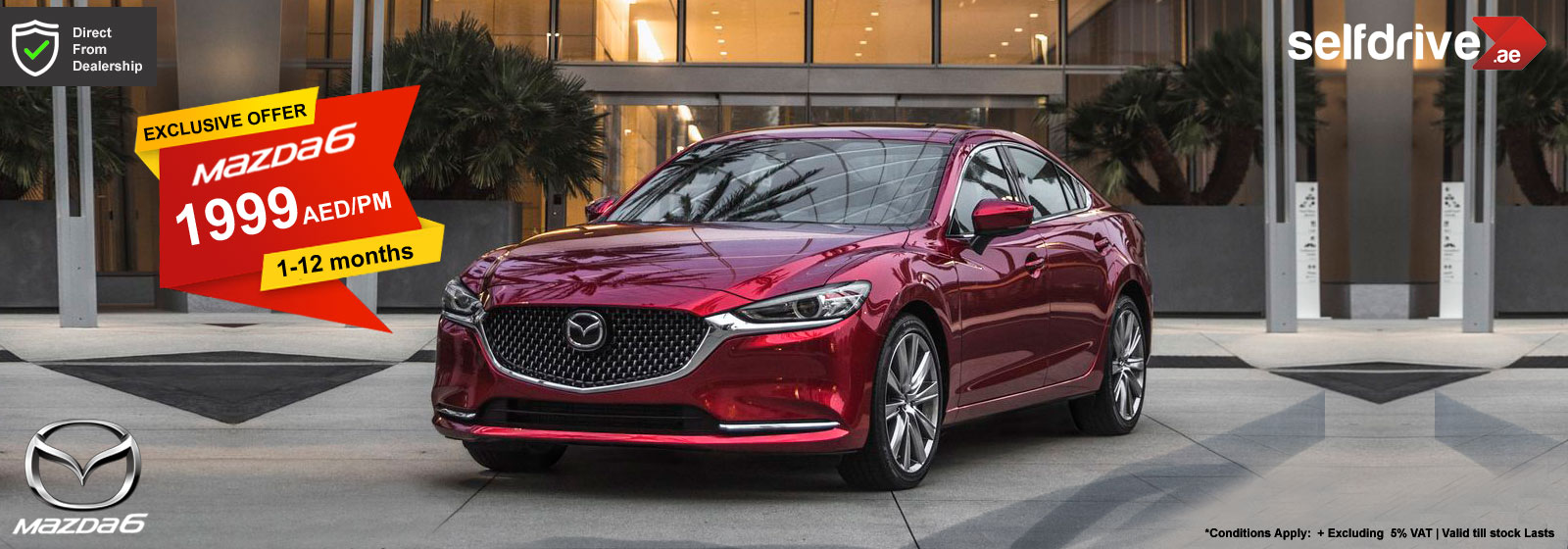 Rent a Car Dubai Mazda 6