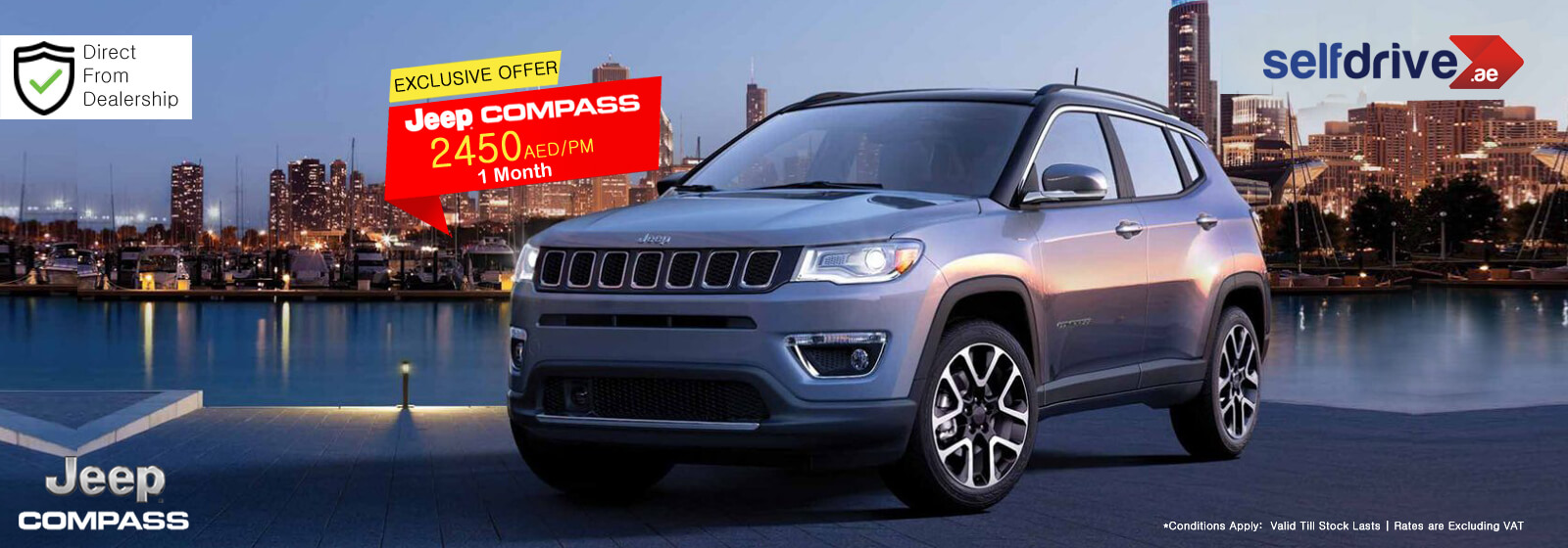 Rent a Jeep Compass in  Dubai