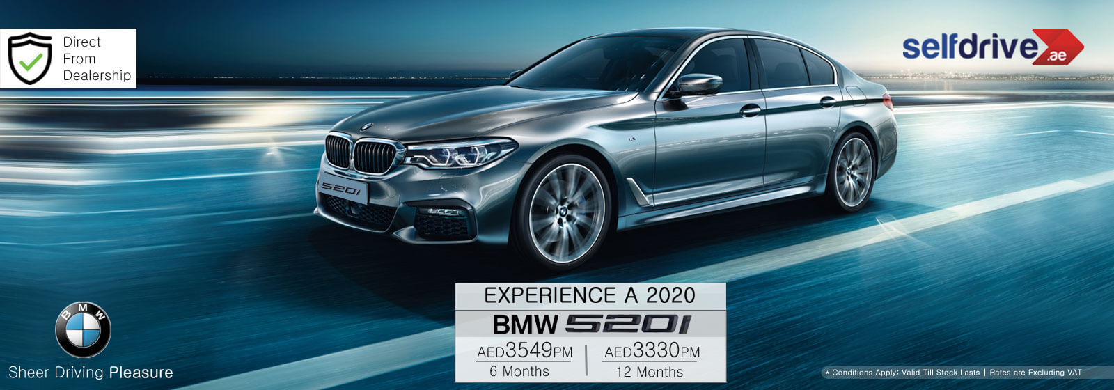 Rent a 2020 BMW520i Dubai
