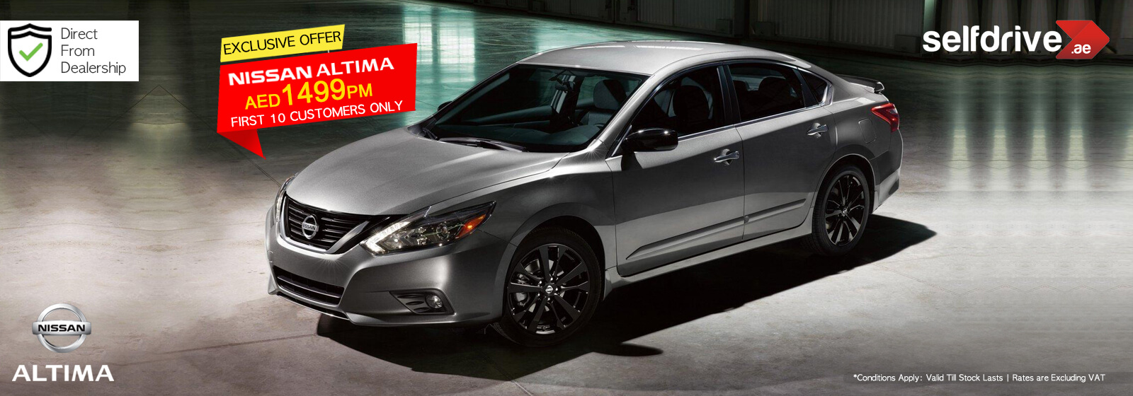 Rent Nissan Altima exclusive offer