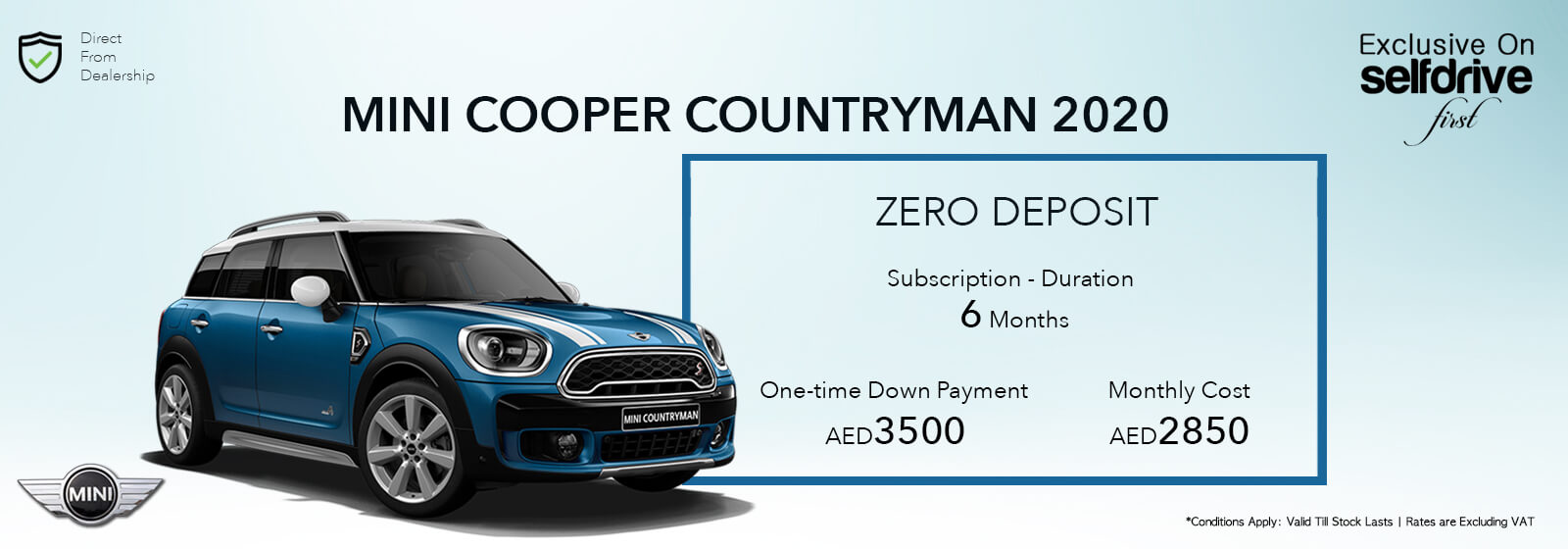 Mini Cooper Countryman Subscription Offers