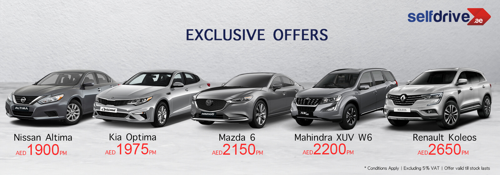 Exclusive offer for wide range of Cars