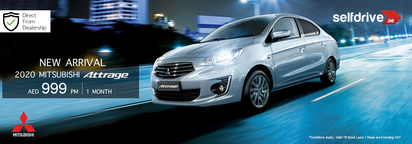 Exclusive offer on 2020 Mitsubishi Attrage