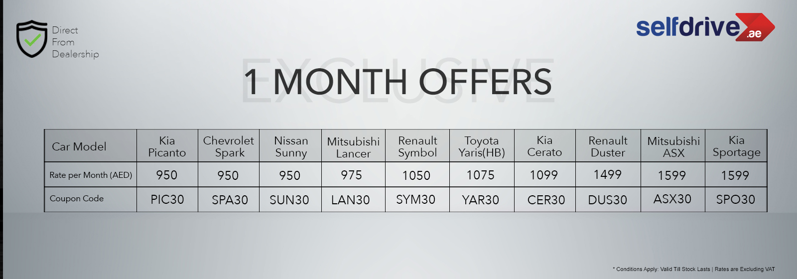 Exclusive Offers Of the Month
