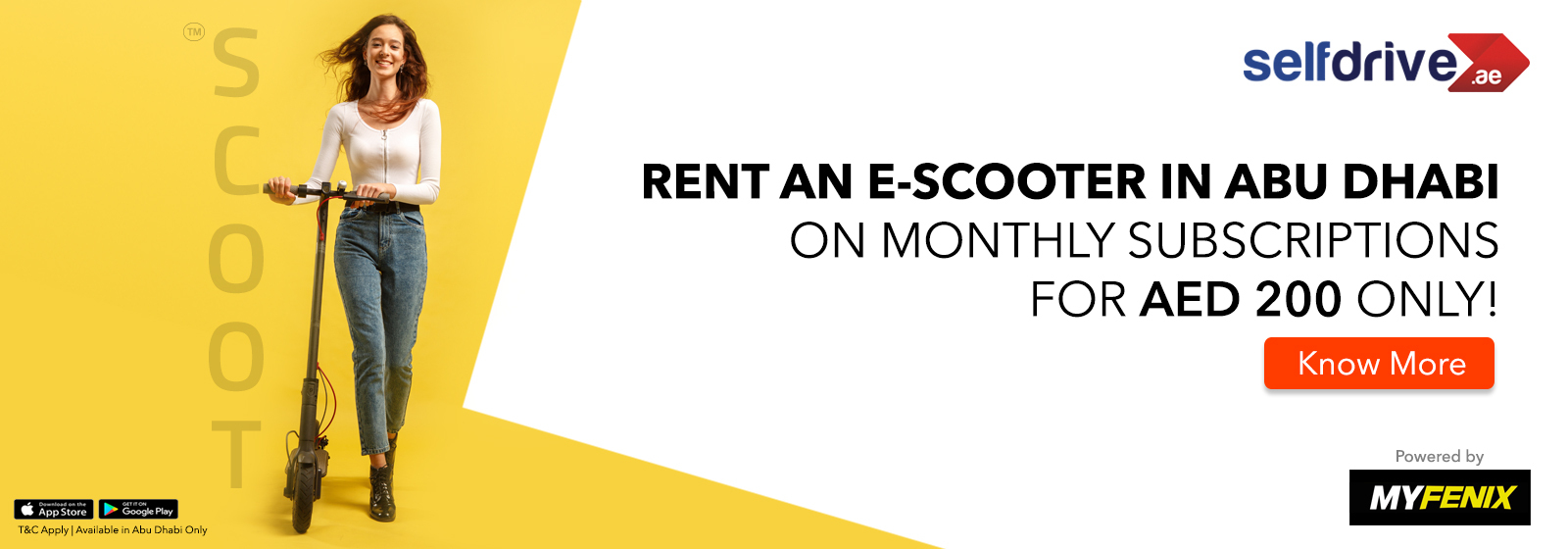 Rent Electric Scooters in Abu Dhabi