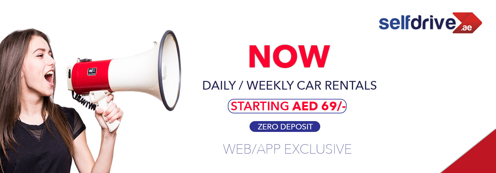 Daily/Weekly Car Rentals Starting AED 69/-
